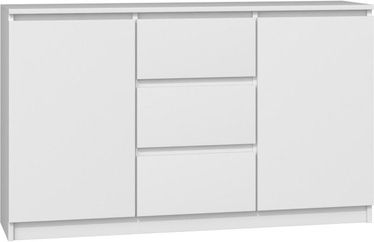 Kummut Top E Shop Chest of 2 Doors 3 Drawers White 120cm