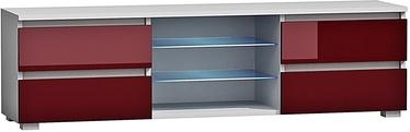 TV staliukas Pro Meble Milano 150 White/Red, 1500x350x420 mm