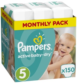 Pampers Active Baby-Dry S5 150