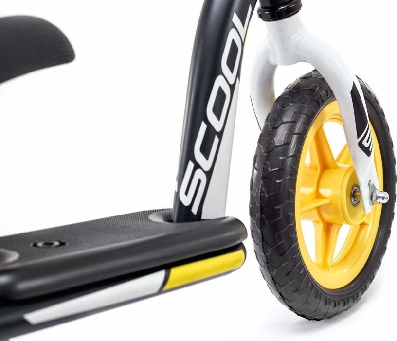 Vaikiškas dviratis Scool PedeX Easy 10 Black Yellow