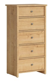 Black Red White Porto III Drawer Oak