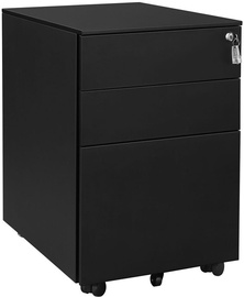 Songmics File Cabinet 39x52x60cm Black