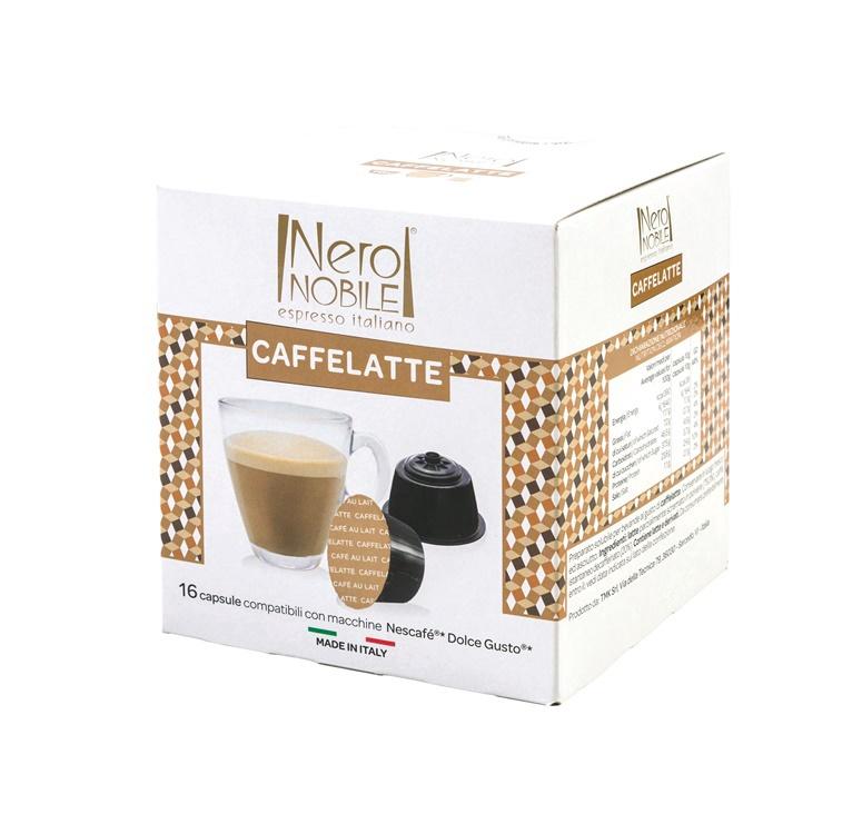 Kavos kapsulės Neronobile Latte, 16 vnt.