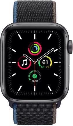 Apple Watch SE GPS 44mm LTE Space Gray Aluminum Charcoal Sport Loop