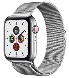 Išmanusis laikrodis Apple Watch Series 5 44mm GPS Stainless Steel Case with Silver Milanese Loop Cellular