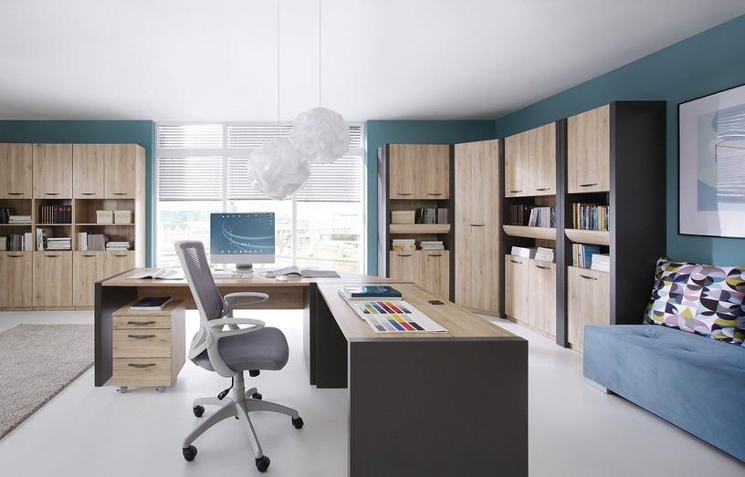 Black Red White Writing Desk Executive III San Remo Oak
