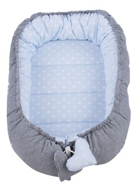 Tuttolina Double Sided Nests For Baby Gray/Blue