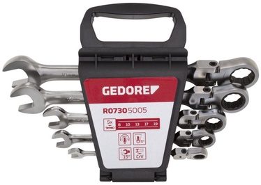 Gedore Flexible Head Combination Ratchet Spanner Set 8-19mm 5pcs