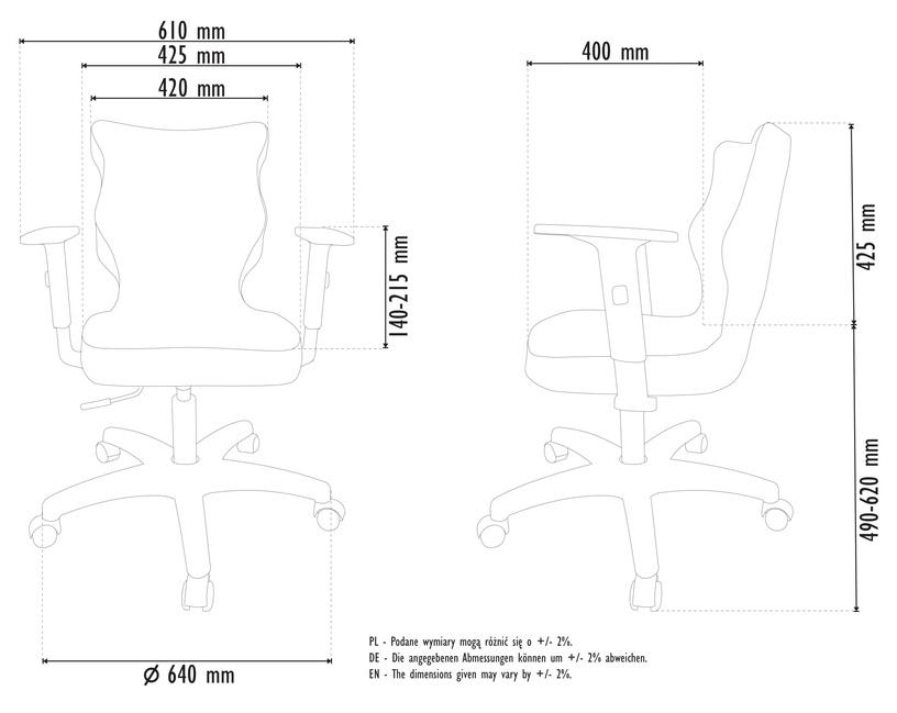 Офисный стул Entelo Office Chair Duo, черный/серый