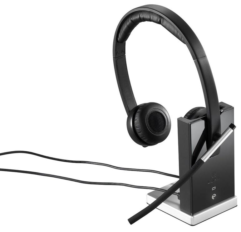 Belaidės ausinės Logitech H820E Black