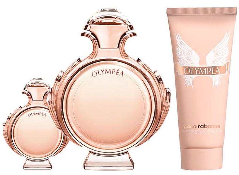 Набор для женщин Paco Rabanne Olympea 80 ml EDP + 100 ml Body Lotion + 6 ml EDP