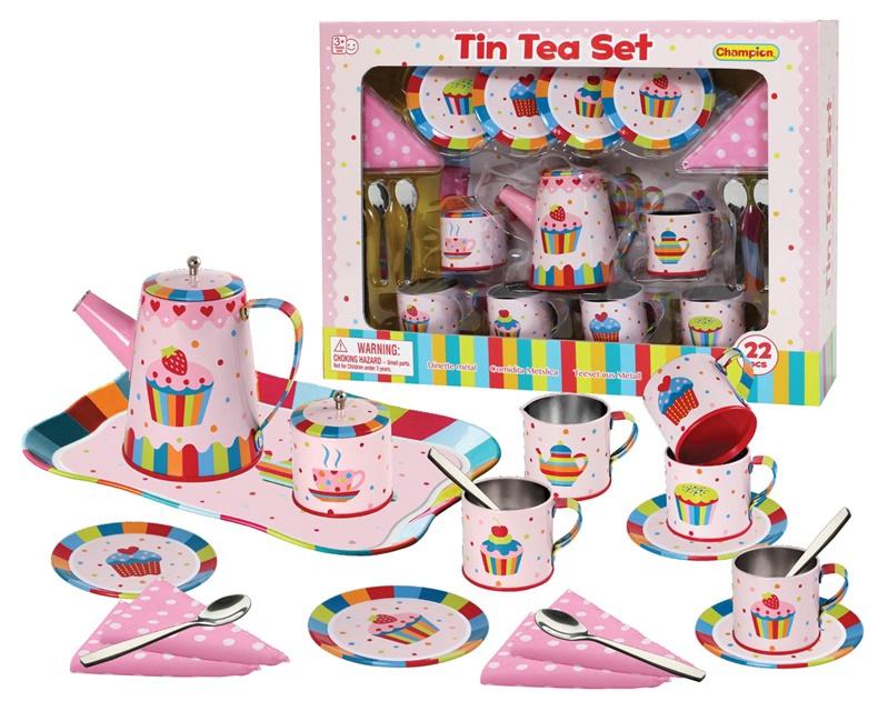Rotaļlietu komplekts Tin Tea Set CH51013