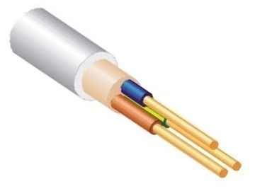 Elektros instaliacijos kabelis Lietkabelis KH05VV-U/NYM, 3 x 6 mm²