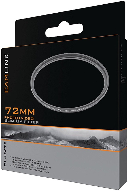 CamLink Slim UV Filter 72mm