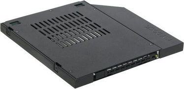 "Icy Dock ToughArmor MB411SPO-1B 2.5"" SATA / SAS Mobile Rack For 9.5mm Ultra Slim Optical Bay"