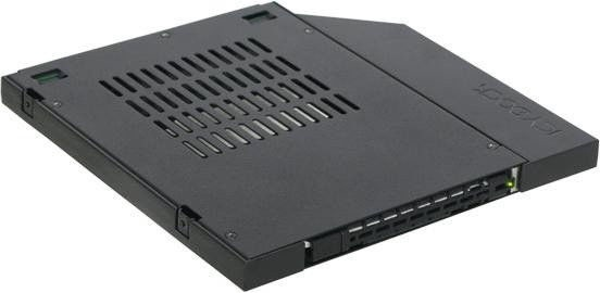 "Icy Dock ToughArmor MB411SPO-1B 2.5"" SATA / SAS Mobile Rack For 9.5mm Ultra Slim Optical Bay"
