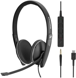 Ausinės Sennheiser SC 165 USB-C Black