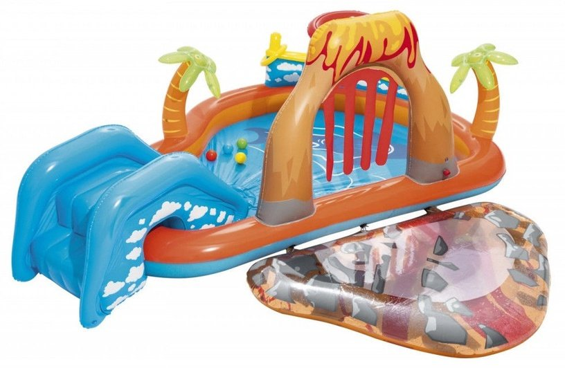 Bestway Inflatable Pool With Slide Volcano 53069 265x265x104cm