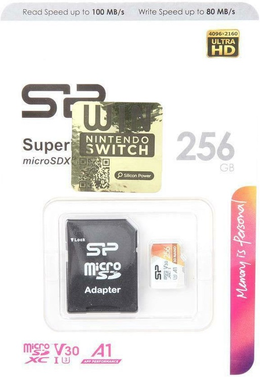Silicon Power Superior Pro Colorful microSDXC 256GB UHS-I Class 10