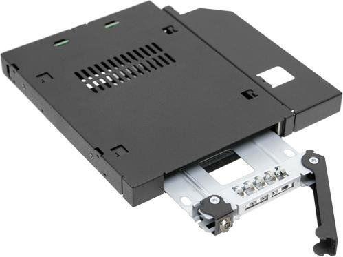 """Icy Dock ToughArmor MB411SKO-B 2.5"""" SATA / SAS For Slim ODD / FDD"""