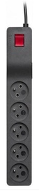 Lestar Surge Protector 5 Outlet Black 1m