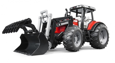 Žaislinis traktorius Bruder Massey Fergusson, su šakėmis 02042