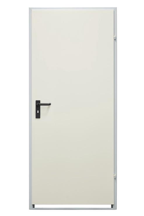 Plieninės vidaus durys Drumetall ZK40-1, baltos, dešininės, 970X2035 cm
