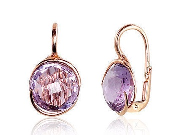 Diamond Sky Gold Earrings Amethyst Greatness