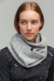 Šalle Audimas Soft Knitted Neck Sleeve With Wool Grey
