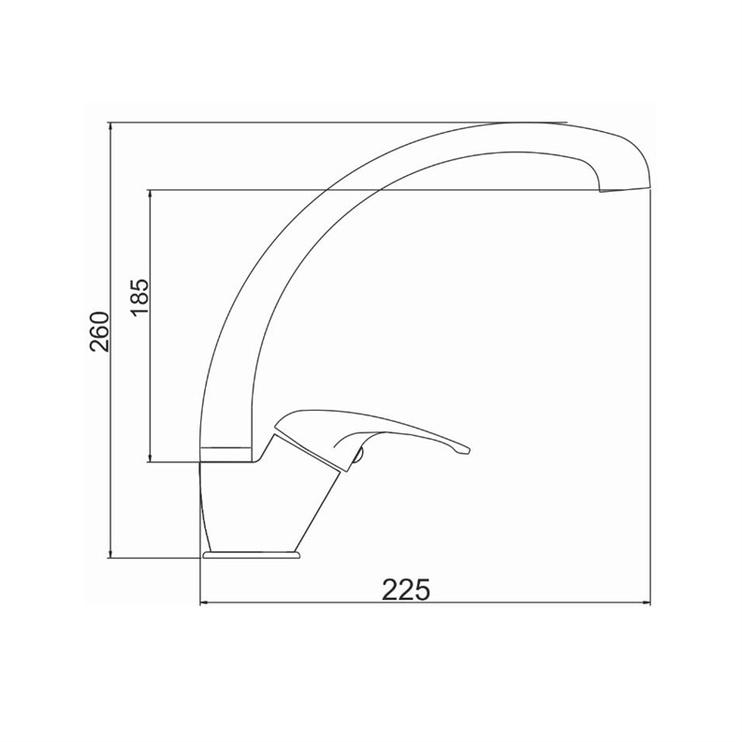 Virtuves ūdens maisītājs Novaservis Neon 93014.0, 25cm