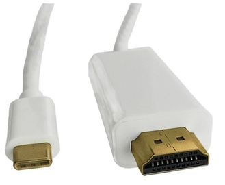 Qoltec Cable USB 3.1 / HDMI White 1m