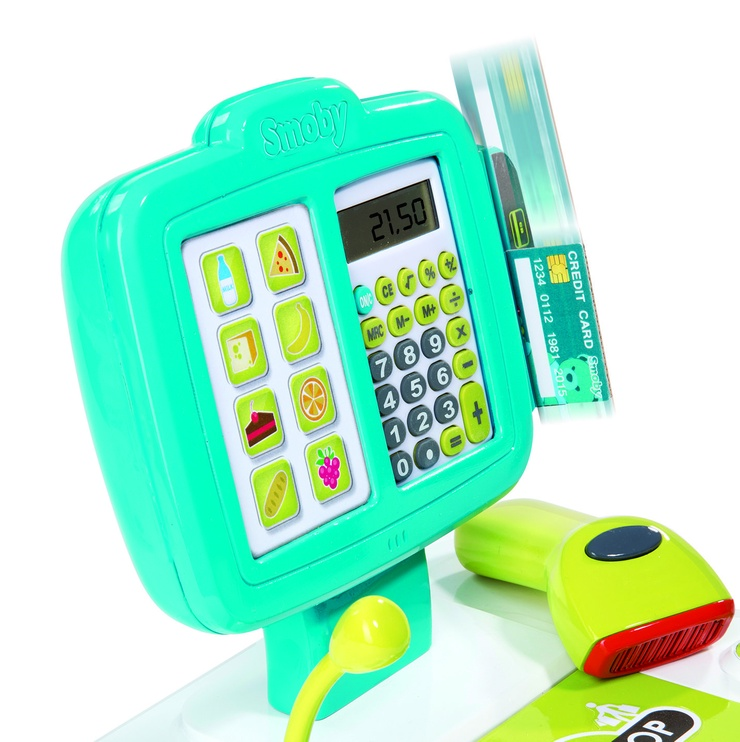 Smoby Mini Shop Electronic Cash Register Green 350104S