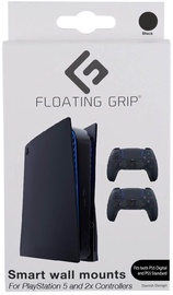 Floating Grip PS5 Wall Mount + 2 Controller Wall Mounts Black