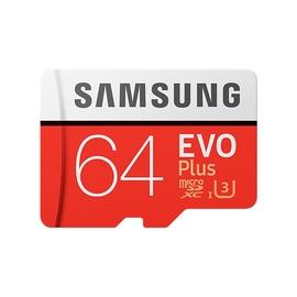 ATMINTIES KORTELĖ 64GB EVO+ SAMSUNG MB-MC64GA/EU R100/W60