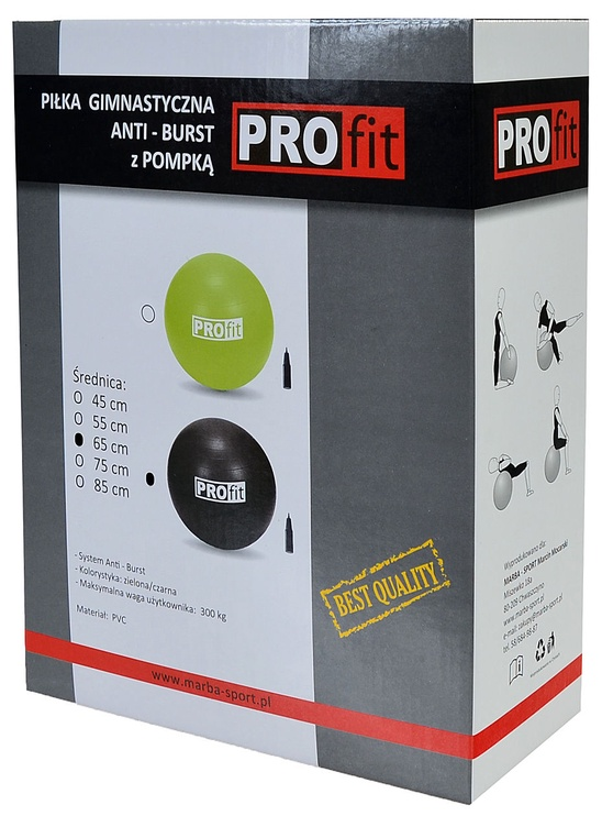 ProFit Exercise Ball 65cm Black