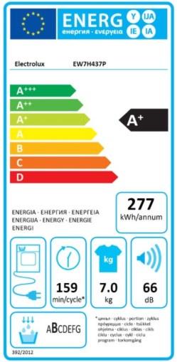 Džiovyklė Electrolux EW7H437P