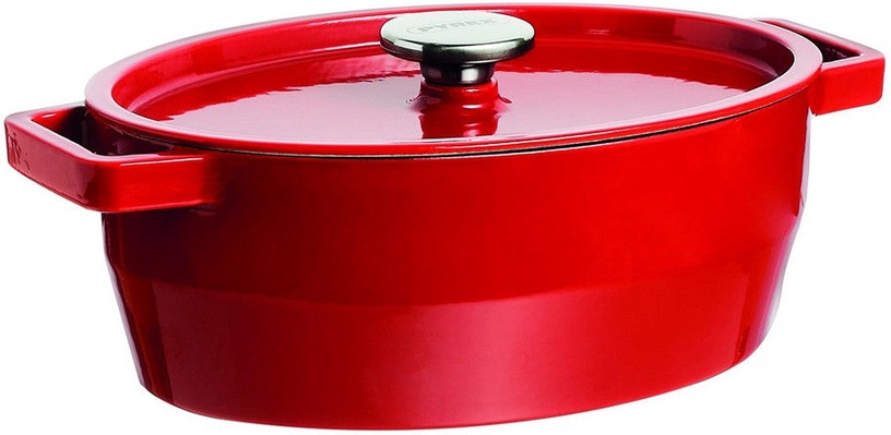 Pyrex SlowCook Oval Cast Iron Casserole 29cm 3.8L