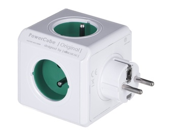 Allocacoc PowerCube Original Power Extension White/Green