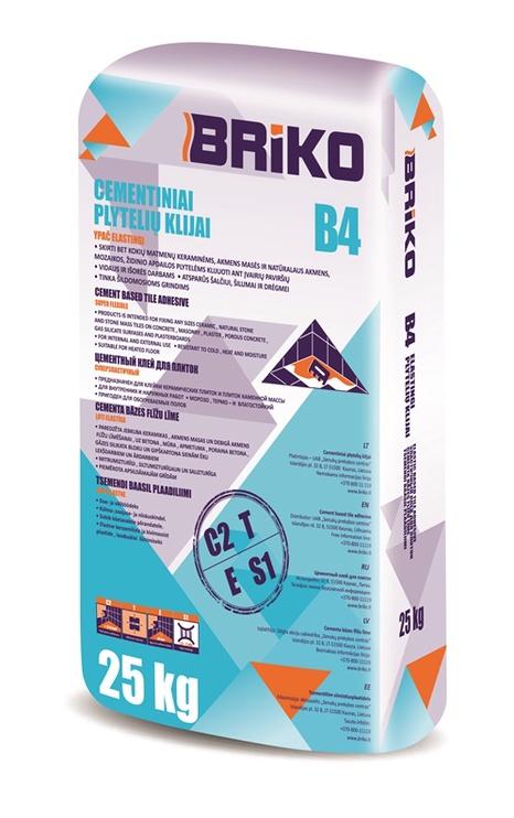 Līme flīžu ļoti elastīga Briko B4, 25 kg