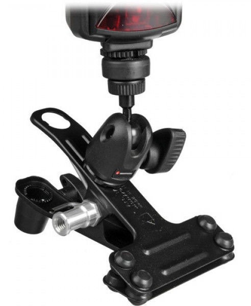 Manfrotto 175F Justin Spring Clamp with Flash Shoe