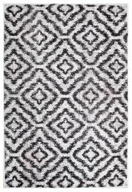 Ковер Evelekt Lotto 5, белый/черный, 150 см x 100 см