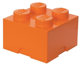 LEGO Storage Brick 4 Knobs Medium Orange