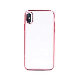 Чехол Devia Glitter iPhone XS/X, прозрачный/розовый, 5.8 ″