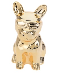 Ceramic Saving Bank Dog Gold 17x10x15cm