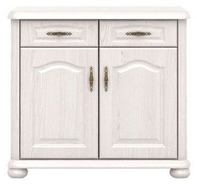 Black Red White Natalia Chest Of Drawers 93.5x85x44cm White