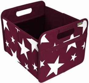 Meori Foldable Box Classic M Burgundy Red/Vintage Stars