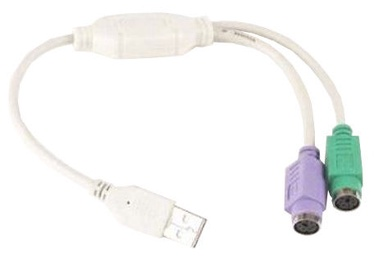 Gembird Adapter USB to PS/2 White 0.3m