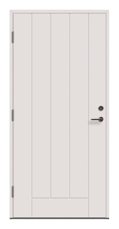 Lauko durys Viljandi Cello 02, baltos, kairinės, 209x99 cm