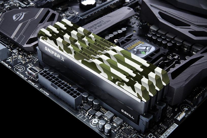 G.SKILL Sniper X Classic Camo 16GB 2400MHz CL17 DDR4 KIT OF 2 F4-2400C17D-16GSXF