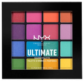 Acu ēnas NYX Ultimate Shadow Palette Brights, 16x0.83 g